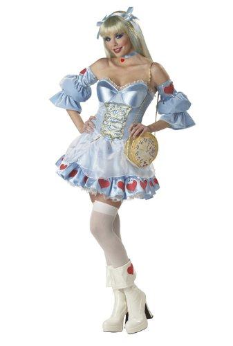 [Alice in Wonderland Adult Halloween Costume Size 6-8 Small] (Characters Of Alice In Wonderland Costumes)