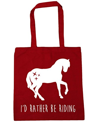 10 Beach x38cm Classic Gym I'd Shopping Riding litres Red Rather Bag 42cm Be HippoWarehouse Tote YPOq0vvn