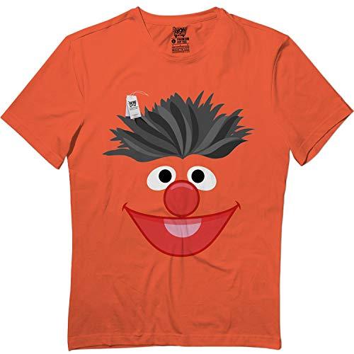 Springtee Orange Puppet Face Ernie Halloween Monster Costume Kids Adult Tshirt