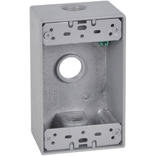 Master Electrician FSB50-3 X 1 Gang Rectangular Outlet Box Three 1/2-Inch ()