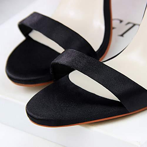 Noir Sandales 5 Noir pour 06 VNLX B Femme 36 Vaneel XFqvxX