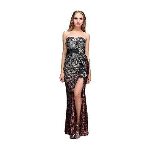 Grau Damen Kleid Design Festamo bei Ital Für Maxi Abend 1Swqv8