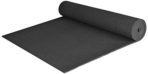 Extra Wide and Extra Long 1/4'' Deluxe Yoga Mat - Black