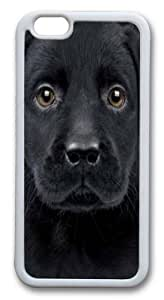 Black Labrador Puppy TPU Case Cover for iphone 6 plus and iphone 6 plus 5.5 inch White