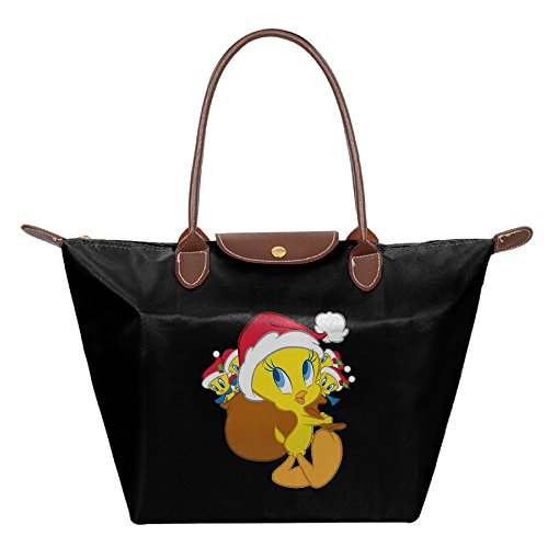 Tweety Bird Christmas Women Black Fashion Hobo Bag Large Tote Shoulder Handbag (Black Seat Covers For Cars Nylon compare prices)