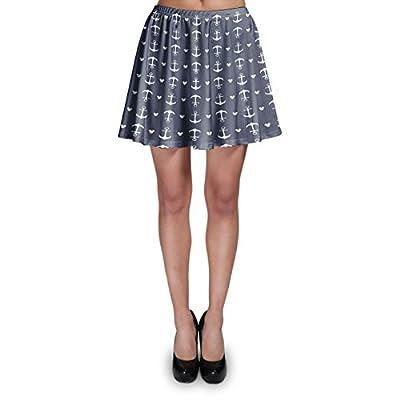Anchors Mouse Ears Skater Skirt XS-3XL Stretch Flared Short Skirt