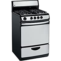 GE JGAS02SENSS 24 Stainless Steel Gas Open Burner Range