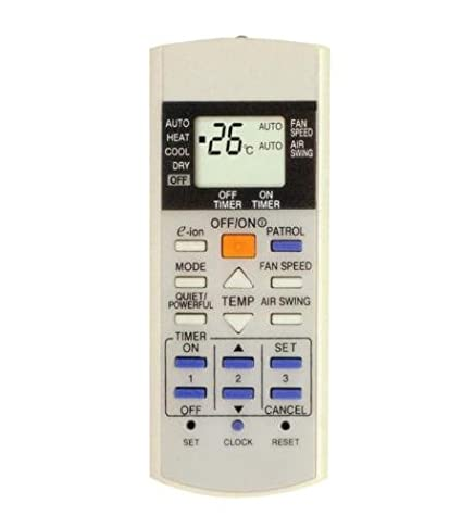 Remote Control for PANASONIC AIR CONDITIONER model E-ionizer: Amazon