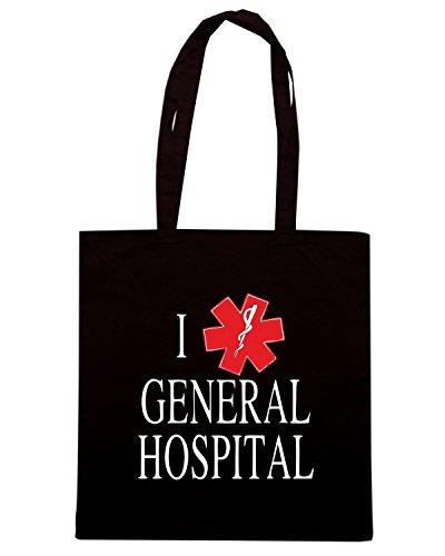T-Shirtshock - Bolsa para la compra TLOVE0104 i love general hospital Negro