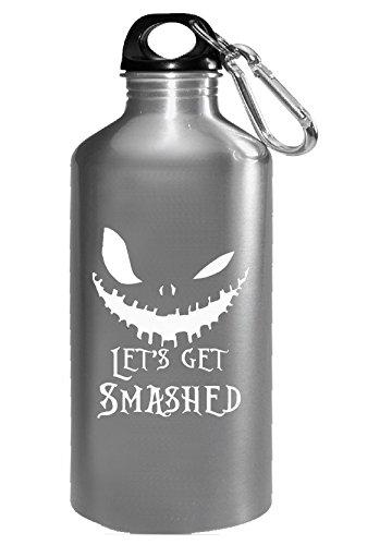 Lets Get Smashed Pumpkin Halloween Party Smashing Pumpkins - Water Bottle -