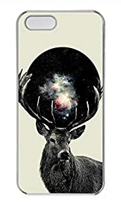 iPhone 5 5S Case Galaxy Space Elk 2 Cover Skin For iPhone 5/5S Cases Transparent