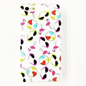 JOE Colorful Sunglass Birds Pattern Plastic Hard Case for iPhone 4/4S , Multicolor
