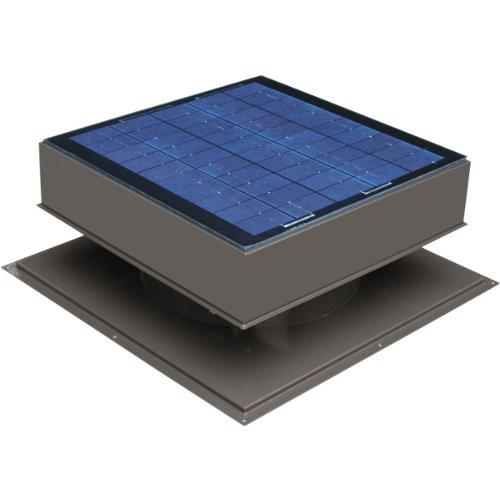 Solar Attic Fan, Roof Mount 20 Watt, Gray For Sale