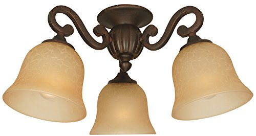 Craftmade LK49-AWD-LED Universal 3-Light Kit, LED 27 Total Watts, Antique White Distressed