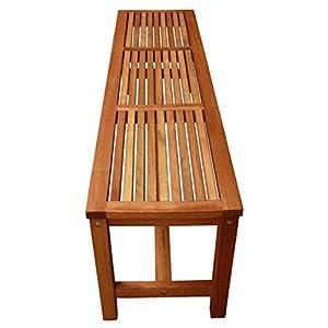 LuuNguyen Backless Hardwood Bench (Natural Wood Finish)