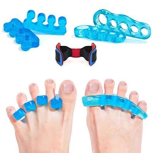 Toe Separators Gel Toes Corrector Straighteners Toe Spacers Pedicure for Yoga Bunion Hammer Toes for Women Men