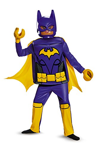 Disguise Batgirl Lego Movie Deluxe Costume, Black, Large (10-12)