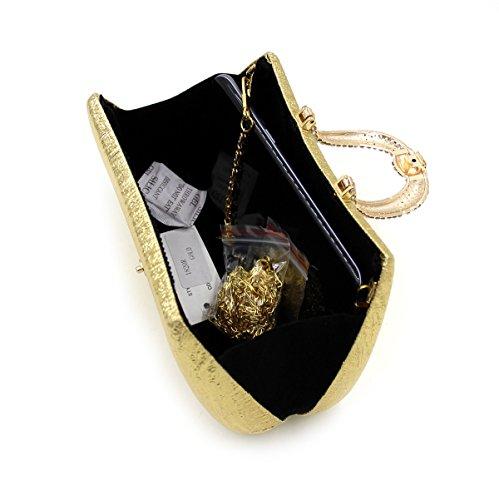 Sac Sac Diamant à Or Bandouliere à Chaine Bal Mariage Kigurumi Soirée Main Main Pochette vZwxTg4qWB