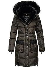 Navahoo Warme winterjas voor dames, winterjas, parka, gewatteerde mantel, lang B871