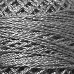 (Valdani Perle Cotton Size 8 Embroidery Thread, 72 Yard Ball - 120 Medium Gray)