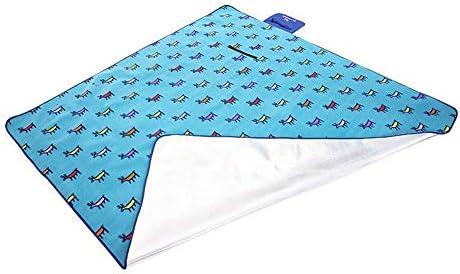 SYT Blankets Impermeabile Outdoor Beach Camping Picnic Pieghevole Mat Coperta Cuscino con Sachel, cervo blu