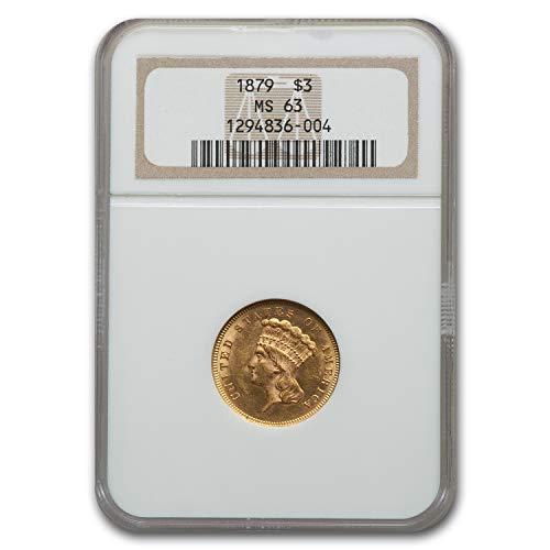 1879 $3 Gold Princess MS-63 NGC 3 MS-63 NGC