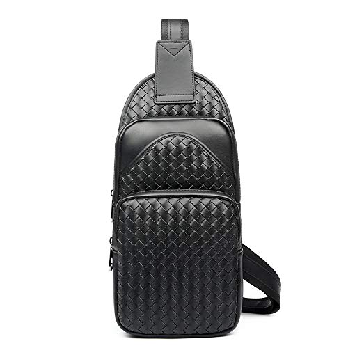 Hand-woven fashion casual mens chest bag