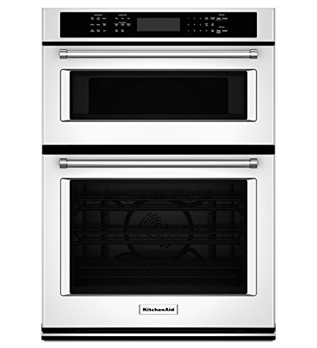 "KitchenAid KOCE507EWH 27"" Double Electric Wall Oven with ..."