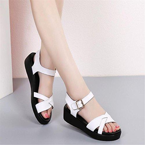 XZGC Zapatos de tacón Mujer Weiß