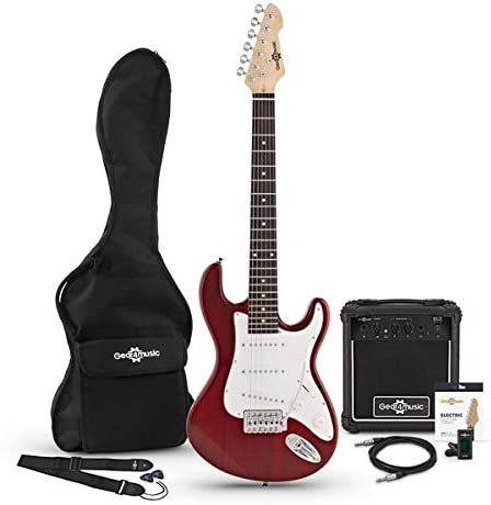 Paquete de guitarra electrica LA 3/4 + Amplificador de 10 W Wine ...