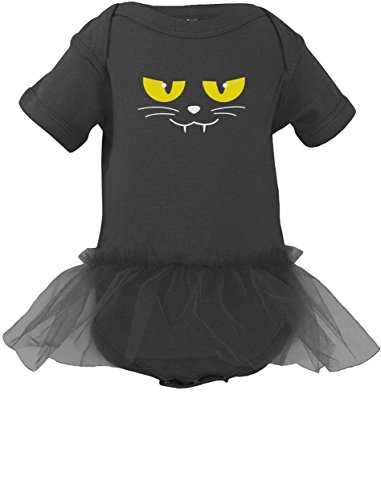 [Halloween Cat Face Easy Costume for Baby Boy / Girl Cute Baby Girl Tutu Bodysuit 24M Black] (Toddler Cat Costume Ideas)