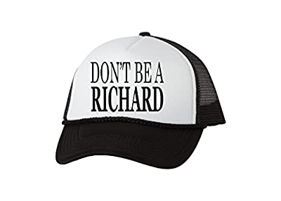 Rogue River Tactical Funny Hat Don't Be A Richard Fishing Baseball Cap Retro Vintage Joke Trucker