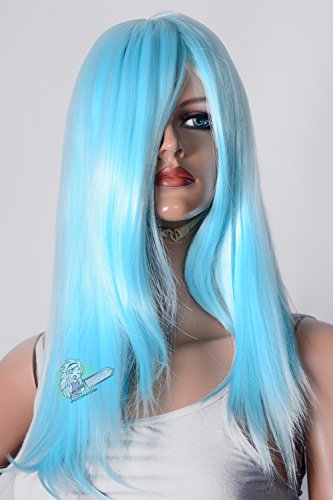 Epic Cosplay Dionysus Anime Blue Straight Cosplay Wig 24 inches (18AB)