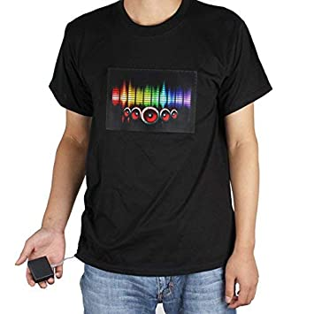 68c2bf606472 Image Unavailable. Image not available for. Color: 【The Best Deal】OriGlam LED  Shirt Sound Activated Shirt Beat to the Music Light