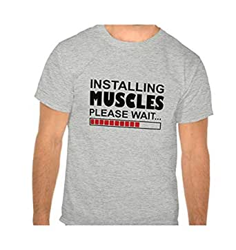Installing Muscles Funny Tshirt