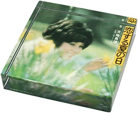 [해외]동경 ミモレ 천지 진리 빠진다 여름날 유리 페이퍼 웨이트 レコジャケグッズ / Tokyo Mimore Chiji Mari Love Summer Day Glass Paper Weight Rekojaque Goods