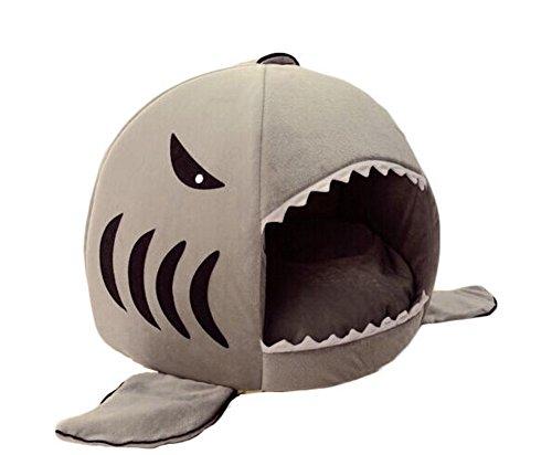 Panda Superstore Pet Bed Dog Puppy Cat Soft Cotton Fleece Warm Nest House Mat-Shark