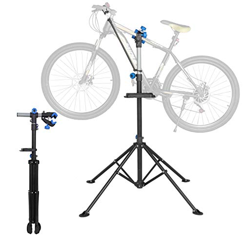 SpiritOne Bicycle Bike Repair WorkStand Cycle Rack Adjustable 52' to 75 Portable Tool Tray