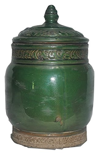 Zodax Terracotta, Lidded, Silk Road Jar 9.5