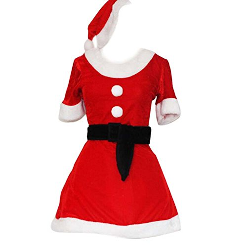 [Black Temptation Women's Red Short Sleeve Christmas Costume Fancy Dress] (Homemade Costumes With Black Dress)