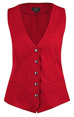 GREIFF - Chaleco - Sin mangas - para mujer Rojo