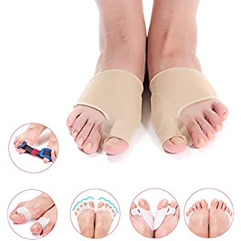 Bunion Corrector & Bunion Relief Toe Splint Kit, [11PCS] Big Toe Straightener Spacer Bunion Joint Protector Toe Separators for Women Men Kid, Treat Pain in ...