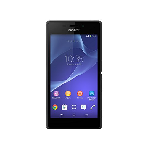 Sony Xperia M2 HSPA+ DUAL SIM D2302 Unlocked GSM Android Smartphone - Retail Packaging - Black by Sony