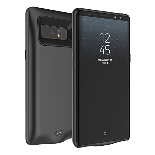 Samsung Galaxy Note 8 Extended Battery Backup Case, TORUIBIA 5500mAh Portable Rechargeable Battery Charger Power Bank Case Cover Charger Pack Power Bank for Samsung Galaxy Note 8-Black