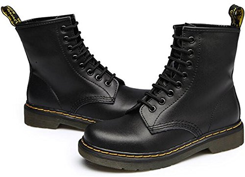 Black Ankle Lace DADAWEN Women's Retro Boots up qHxYw0v6wR
