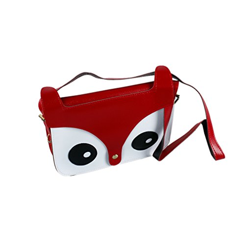 Messenger Cute Crossbody Handbag Bag Green Shoulder Red Pu Fox R Leather Owl SODIAL Satchel qCwXAnB