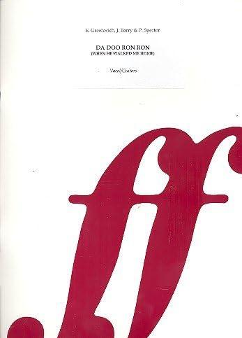 Da Dou Ron Ron: único salida de voz y Piano (en/fr): Amazon ...