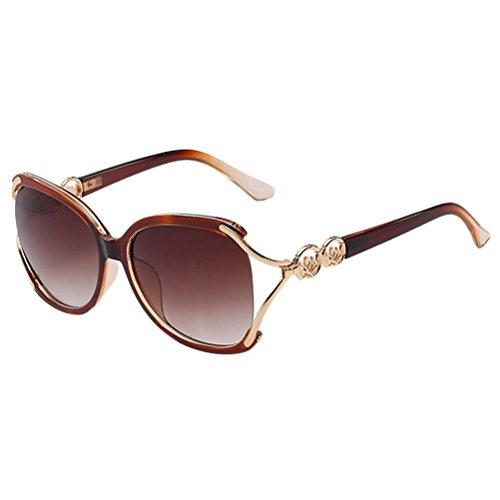 Zhuhaitf Fashion Girls amp; brown Women Eyeglasses Sunglasses Perfect Storage Bonne Case Fit Ladies for Oversized Qualité SqwBprS