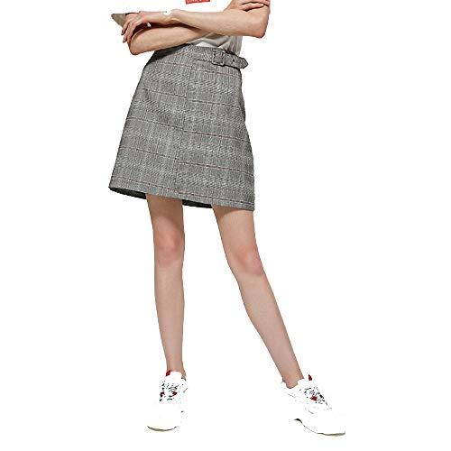 2018 Automne Nouveau Style Une Taille De Jupe Gris
