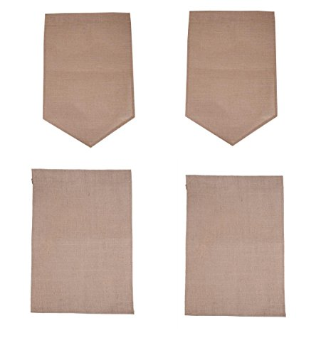 BLHEM DIY Burlap Garden Flag (Pack of 4)-Blank Burlap Garden Flag DIY Yard Outdoor Signs Garden Decoration (18 X 12 Inch, - Diy Flag